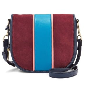Fossil Rumi Flap Crossbody Leather Bag